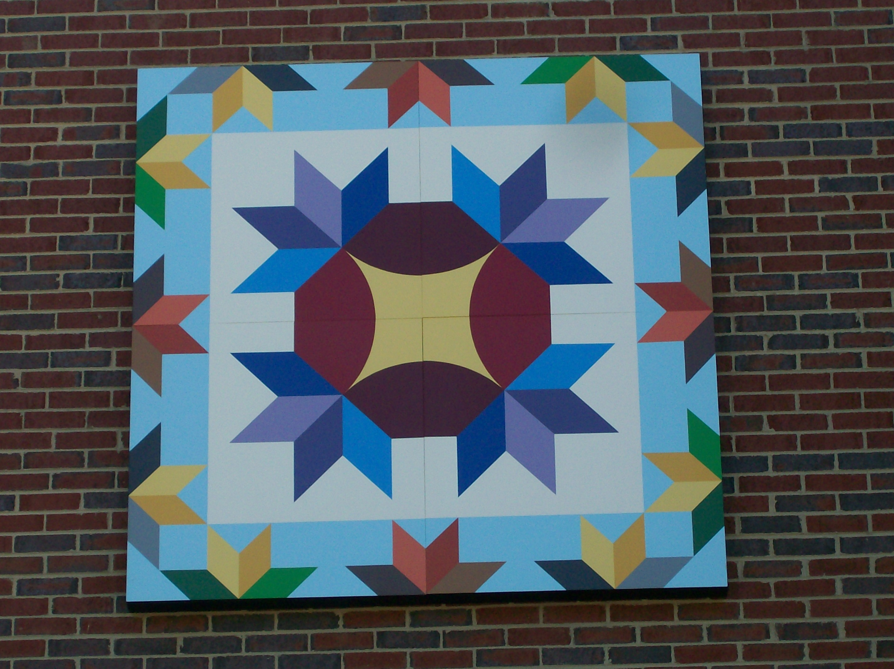 "Quilt Block Installed On Marion Elementary School – ""Hands All ... : traditional quilt block patterns - Adamdwight.com"
